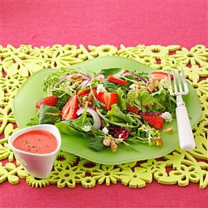 Strawberry Salad with Mojito Vinaigrette Recipe