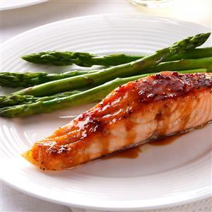 Strawberry-Teriyaki Glazed Salmon Recipe
