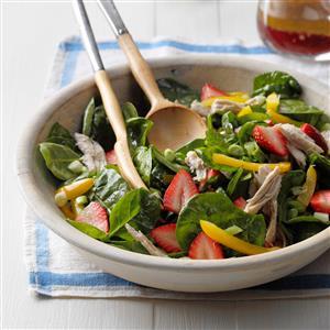 Strawberry-Turkey Spinach Salad Recipe