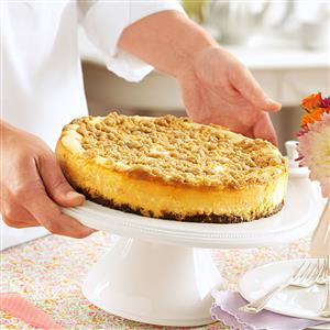Streusel-Topped Apple Cheesecake Recipe