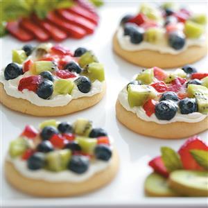 Sugar Cookie Fruit Pizzas Recipe