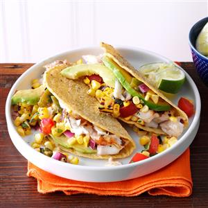 Summer Garden Fish Tacos Recipe