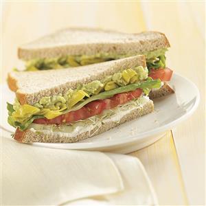 Summer Veggie Sandwiches Recipe