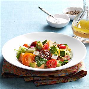 Summertime Tomato-Melon Salad Recipe