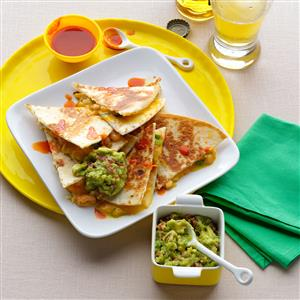 Super Quick Shrimp & Green Chili Quesadillas Recipe