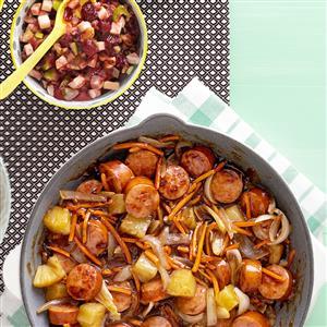 Sweet 'n' Sour Sausage Stir-Fry Recipe