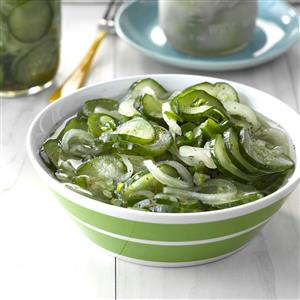Sweet 'n' Tangy Freezer Pickles Recipe
