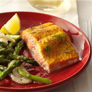 Sweet Mustard Salmon Recipe