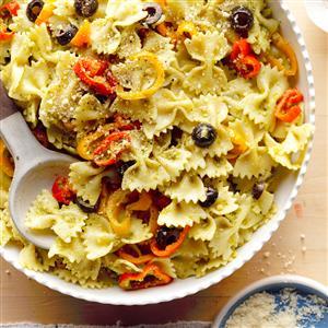 Sweet Pepper Pesto Pasta Recipe