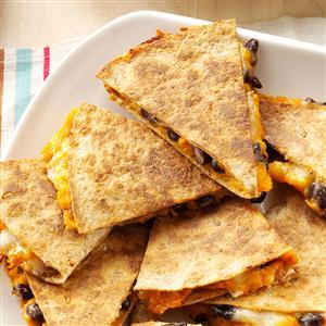 Sweet Potato & Bean Quesadillas Recipe