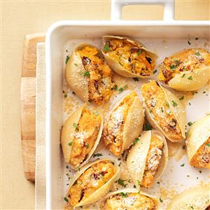 Sweet Potato & Caramelized Onion Shells Recipe