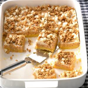 Sweet Potato Cheesecake Bars Recipe