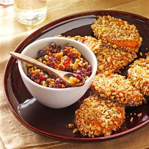 Sweet Potato Patties with Orange Relish Recipe