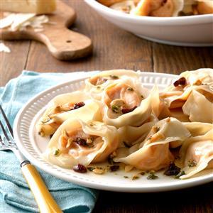 Sweet Potato Tortellini with Hazelnut Sauce Recipe