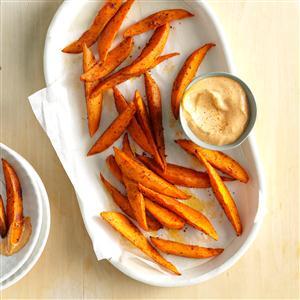 Sweet Potato Wedges with Chili Mayo