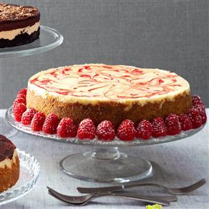 Swirled Raspberry & Chocolate Cheesecake Recipe