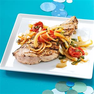 Swordfish with Fennel and Tomatoes