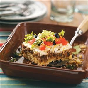 Taco Cornbread Squares Recipe