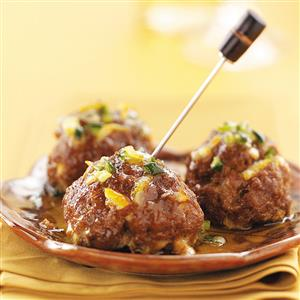 Tapas Meatballs with Orange Glaze Recipe