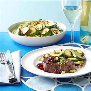Tenderloin Steaks with Cherry Sauce Recipe