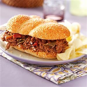 Tex-Mex Beef Sandwiches Recipe