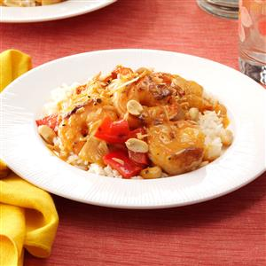 Thai Curry with Shrimp & Coconut Recipe