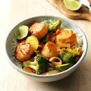 Thai Scallop Saute Recipe