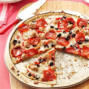 Thin-Crust Gluten-Free Pepperoni Pizza Recipe