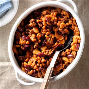 Three-Bean Baked Beans Recipe