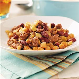 Three Bean Casserole Recipe