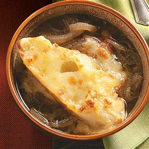Three-Cheese French Onion Soup Recipe