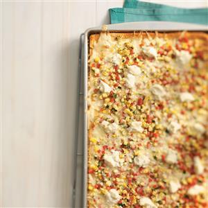 Three-Cheese Veggie Pizza Recipe