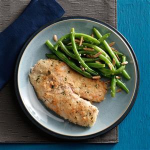 Tilapia with Green Beans Amandine Recipe