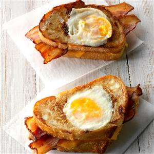 Toad in the Hole Bacon Sandwich Recipe