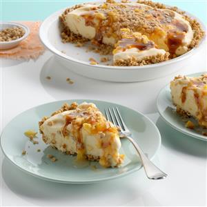 Toffee-Peach Ice Cream Pie Recipe