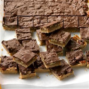 Toffee Turtle Squares Recipe