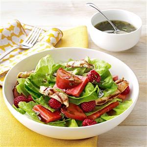 Tomato-Melon Chicken Salad Recipe