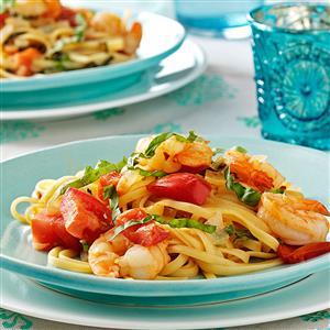 Tomato Shrimp Fettuccine Recipe