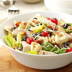 Tortellini & Chicken Caesar Salad Recipe