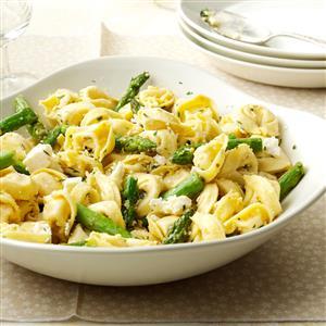Tortellini with Asparagus & Lemon Recipe