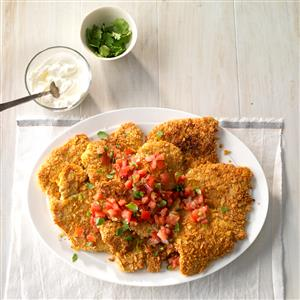 Tortilla Crunch Turkey Cutlets Recipe