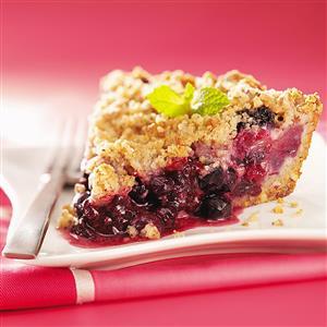 Triple-Berry Crumb Pie Recipe