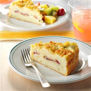 Triple Cheese Potato Cake with Ham Recipe