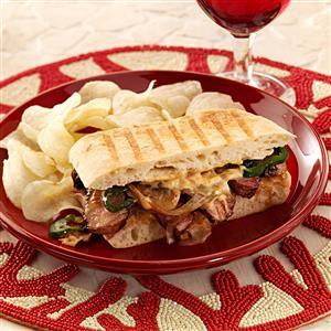 Triple Pepper Steak Sandwiches Recipe
