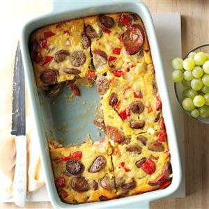 Triple Sausage Breakfast Bake Recipe