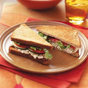 Tuna Caesar Sandwiches for Two Recipe