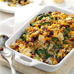 Turkey & Spinach Stuffing Casserole Recipe