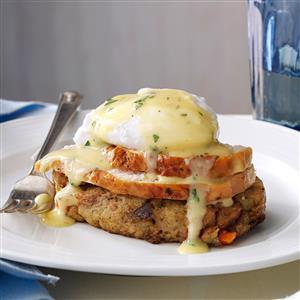 Turkey & Stuffing Eggs Benedict Recipe
