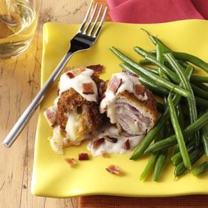 Turkey Cordon Bleu with Alfredo Sauce Recipe