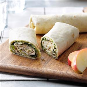 Turkey Guacamole Wraps Recipe